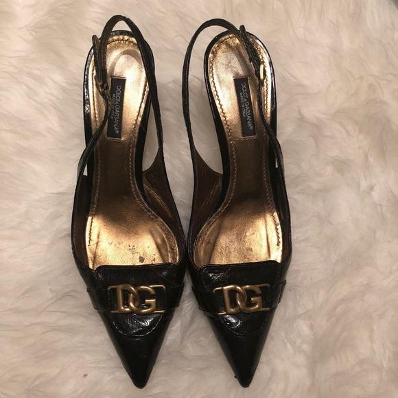 99d0345f433 Dolce   Gabbana Shoes - Dolce   Gabbana Black Leather Slingback
